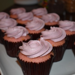 Pink champagne cupcakes from Mad Eliza's in Topeka